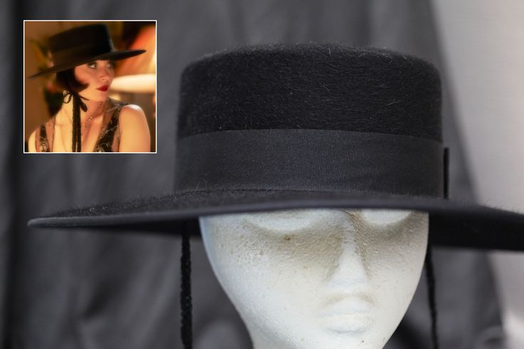A traditional Spanish hat, this piece helped to create Phryne's undercover Spanish character 'Lulu Loreta' in 'Murder Most Scandalous'