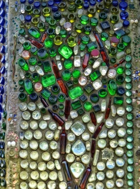 Glass recycling ideas for green building and outdoor home for Ideas to recycle glass bottles