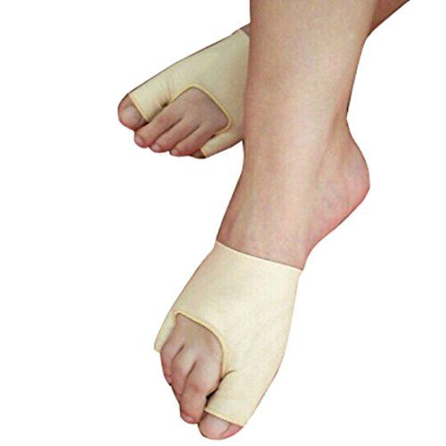 1 Pair Bunion Gel Hallux Valgus Foot Pain Relief Foot Care Silicone  Item Type: Foot Care Tool  Soft flexible footpad for protecting bunions by absorbing shock and shear forces.  Soft mineral oil gel soften and comforts painful and sensitive bunions on direct contact with the skin.  Material: spandex yarn+pa  For daily wear or for long walks or hikes.