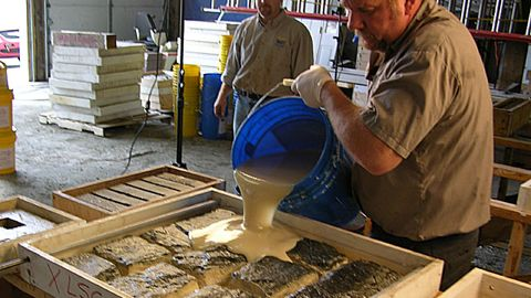 how to make concrete stone veneer