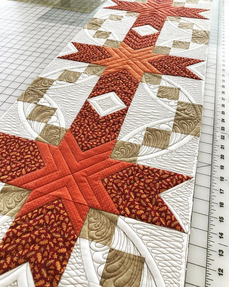 """287 Likes, 31 Comments - @shanschlosser on Instagram: """"Finished it! The quilting really changed the look of this fall table runner. #sewyoulikeit…"""""""