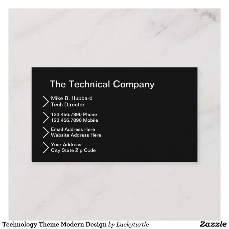 Technology Theme Modern Design Business Card | Zazzle.com