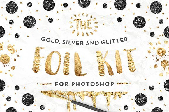 The Gold Foil Kit Essentials+Bonus! by Pink Coffie on @creativemarket