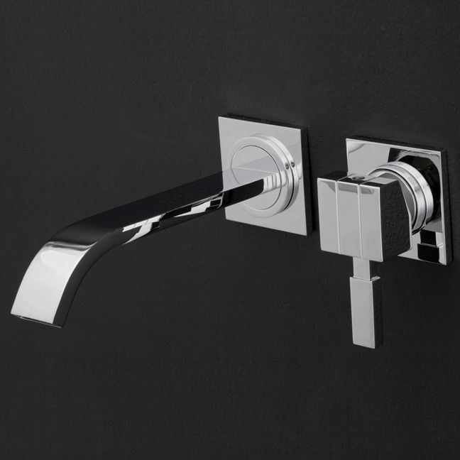 Dress up your bathroom with unique faucet designs including waterfall, cap, gooseneck, and elbow spouts and single-lever or dual-knob hot and cold faucets.