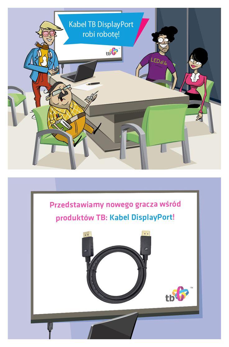Do oferty #TB dołączył #kabel DisplayPort o wejściu typu męskiego! :) #gadźet #gadget #cable #displayport
