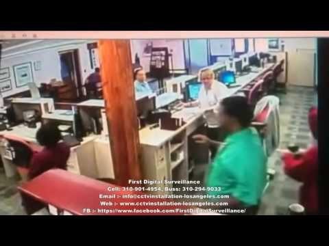 St George's Bank Robbery CCTV Footage. (First Digital Surveillance)