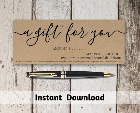 Best 25+ Free gift certificate template ideas on Pinterest Gift - printable gift certificate template