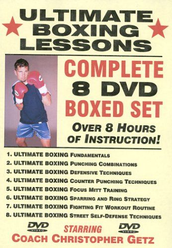 """Ultimate Boxing Lessons"" COMPLETE 8 DVD BOXED SET, Starring Boxing Coach Christopher Getz"
