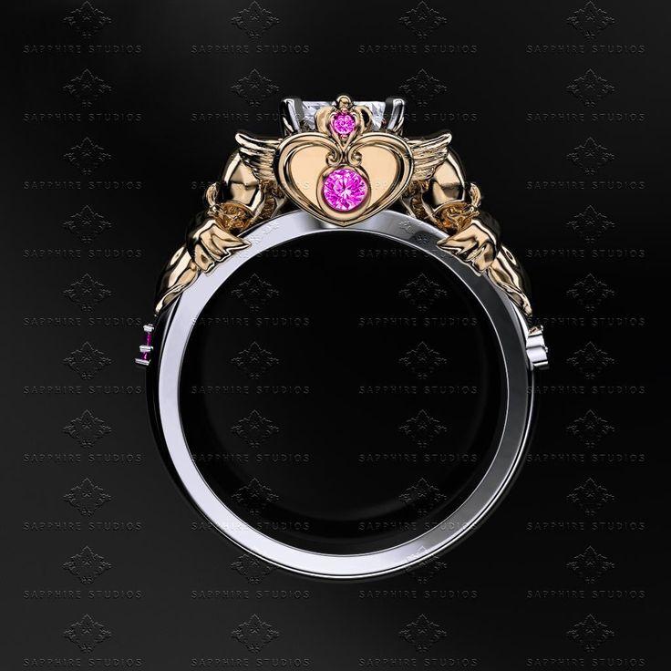 'Sailor Moon' 1.25ct Diamond White/Yellow/Rose Gold Sailor Moon Ring