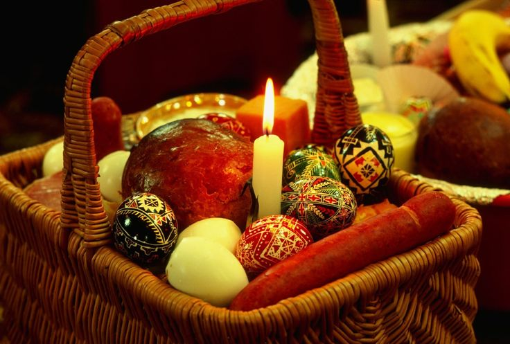 A traditional Slovak-Ukrainian-Russian Easter breakfast features all of the food items that were placed in a special basket blessed on Holy Saturday.