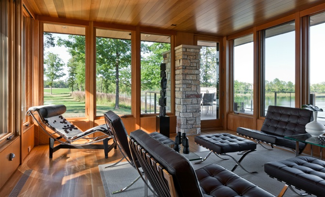 Windows north lindstrom lake house by charles r stinson for Building a lake house