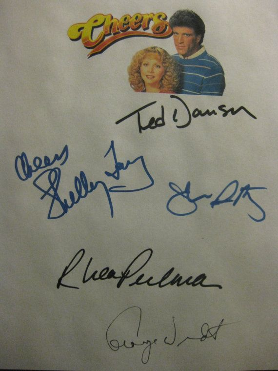 Cheers Signed TV Pilot Script Screenplay Autograph X5 Ted Danson Shelley Long Rhea Perlman John Ratzenberger George Wendt classic tv sitcom