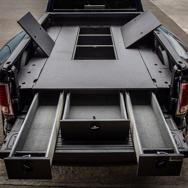 25 best ideas about truck bed tool boxes on pinterest truck bed drawers truck bed camping - Truck bed organizer ideas ...