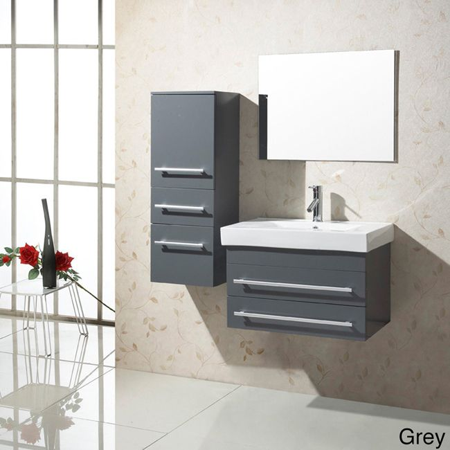 Gallery For Website The Virtu inch single sink vanity set is equipped with two soft closing