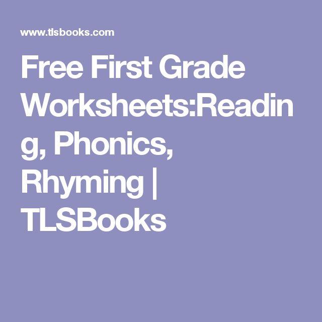 First grade reading skills worksheets free