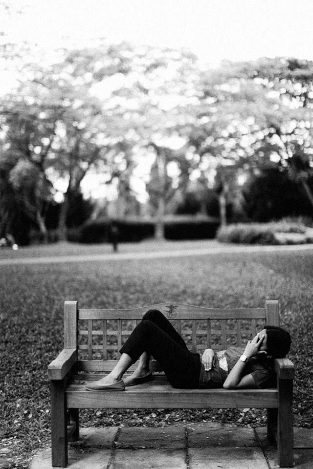 Nap at botanic garden Singapore