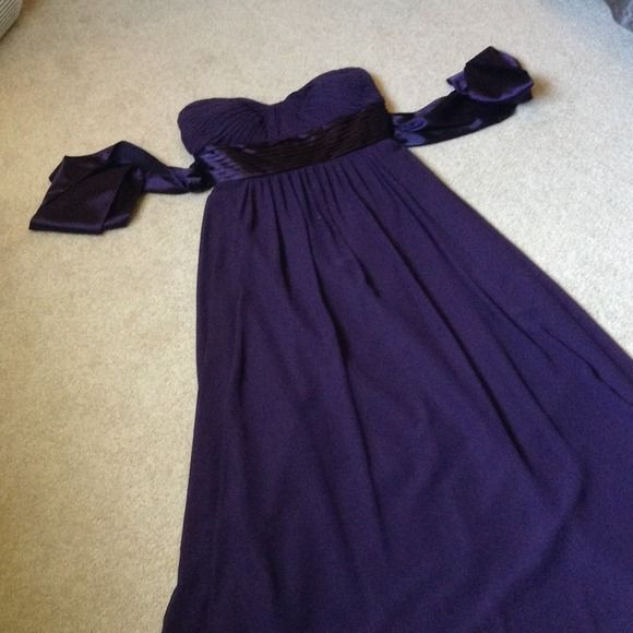 SALEBILL LEVKOFF floor length plum dress Beautiful floor length plum dress! Worn once as bridesmaid dress. Size 8 Bill Levkoff Dresses
