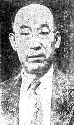 Chujiro Hayashi: photo from the Hawaii Hochi, Nov 20th, 1937