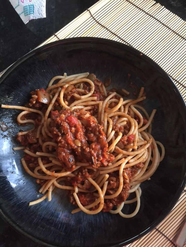"""Non Evans MBE- """"Great wholemeal spaghetti Bolognese with the best lean mince from @MuscleFoodUK tonight...! Free sample code NE16014"""" www.musclefood.com"""