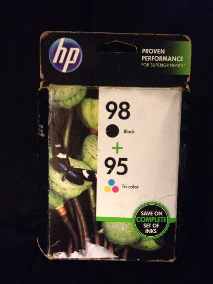 HP 98/95 Black and Tricolor Printer Ink Cartridges CB327FN Combo 2 Pk Exp 4/17 #HP #HP98 #HP95 #inkcartridges #inkjet