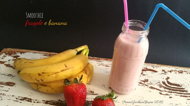 Smoothie fragole e banana