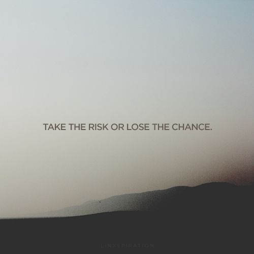 Never ever take a risk for just a temporary feeling. Or your life will be miserable