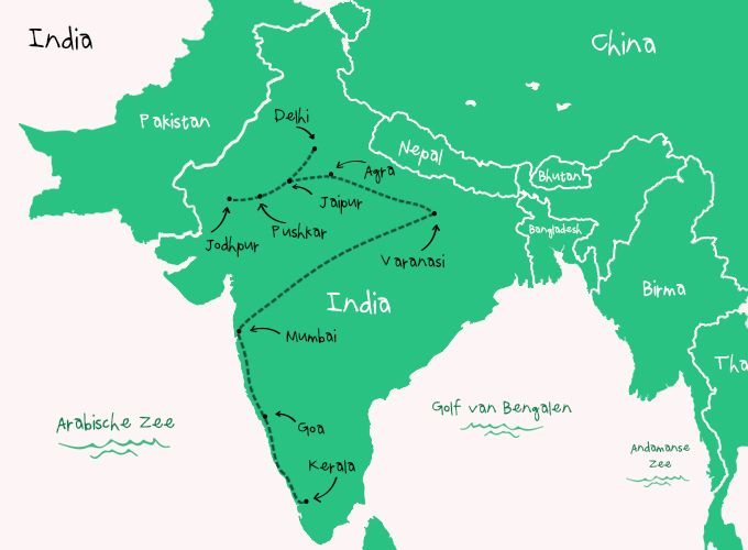 Backpack Route India