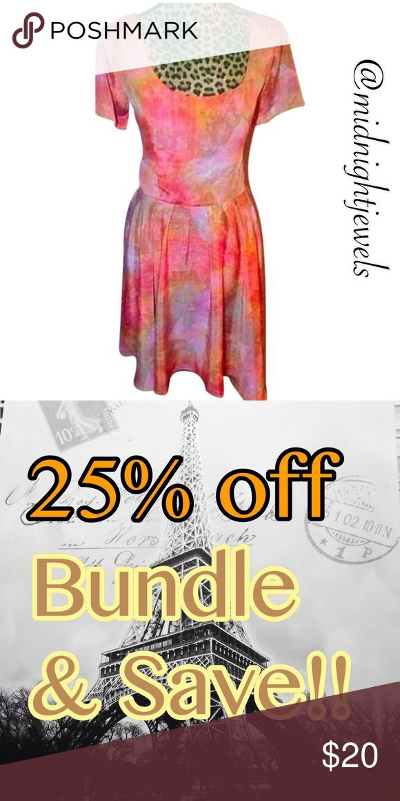 🎉 anthropology dress large womens orange pink Beautiful anthropology dress in women's size large color that pop🍭🍊 I am pretty firm on this price ladies but I do offer a bundle discount of 25% Anthropologie Dresses Midi