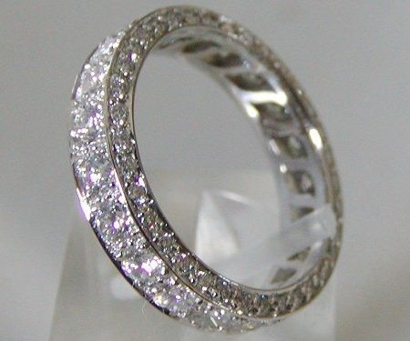My dream wedding band.  I will never show this to B or he would freak #manyprettypennies lol: Wedding Ring, Eternity Band, Wedding Ideas, Diamond, Wedding Bands, Rings, Engagement Ring