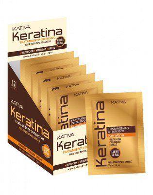 Маска для поврежденных и хрупких волос кератиновая интенсивно восстанавливающая KERATINA Kativa, 35 гр.*12 шт. от Kativa за 119 руб!