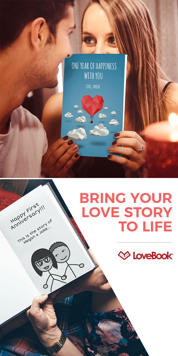 """You both said 'I do."""" Get them the gift that says why. LoveBook lets you say exactly why your love is so special. Select from thousands of ideas and fun illustrations, and customize the message with all of your special moments and inside jokes."""