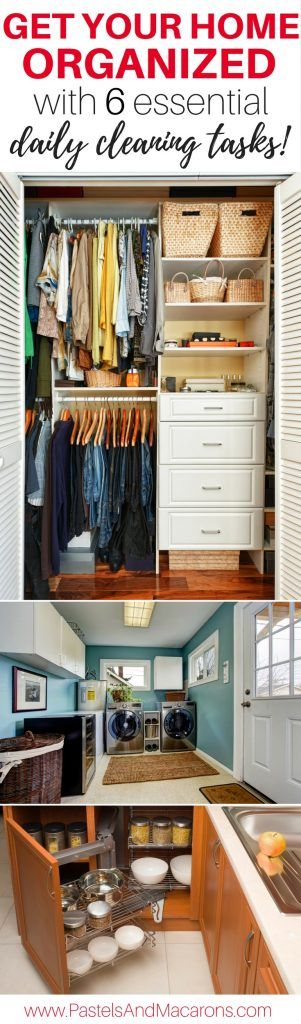 Home organization and cleaning tips you must do daily to keep your home tidy. These 6 orginizing and cleaning tips and ideas have changed my home and have helped me stay on top of my home. Declutter you home and maintain it with this great daily cleaning and organizing rountine!