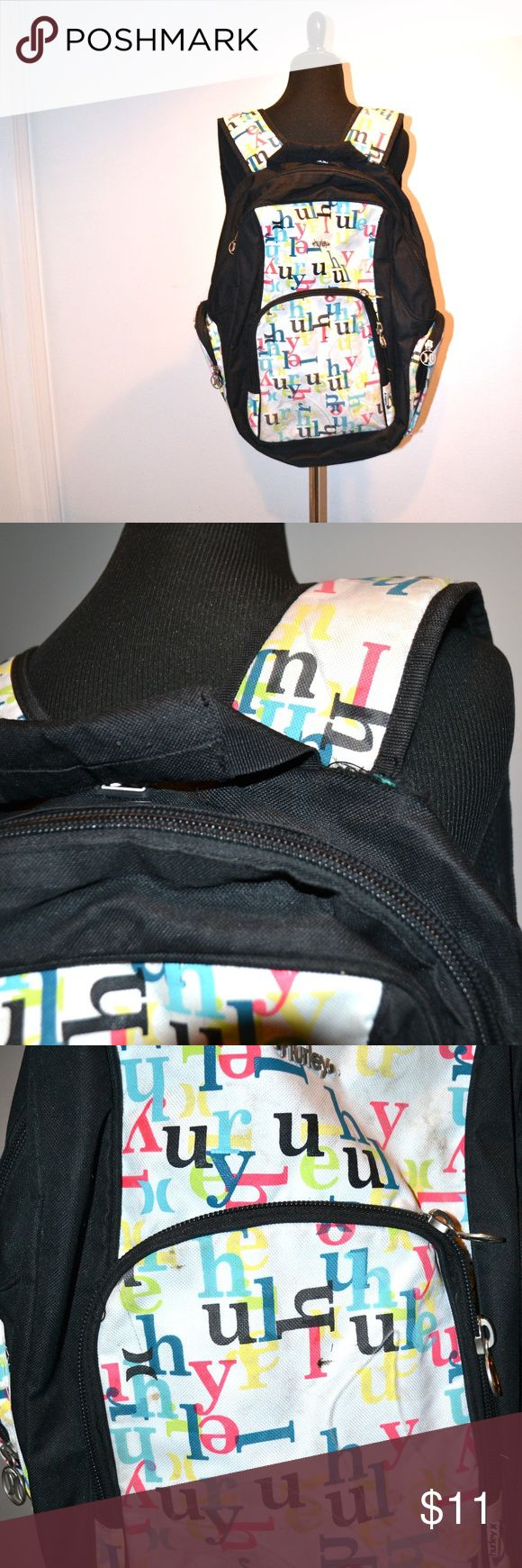 ❤️••hurley backpack•• Used but lots of life left. The front has a bit of dirt on it, but not stained; there is a tear near the right strap (see pic), but its minor. Large top pocket for laptops, books, and other large items. Front pocket has organizers for phone, pens, etc in it.   This is a 5 for $25 item in my closet! Bundle up 5 items from my closet with a ❤️•• in the title and offer $25. Check out with other items I have included in my 5 for $25 sale! Clearing out for spring boutique…