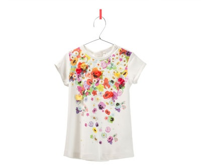 Floral print t-shirt from Zara