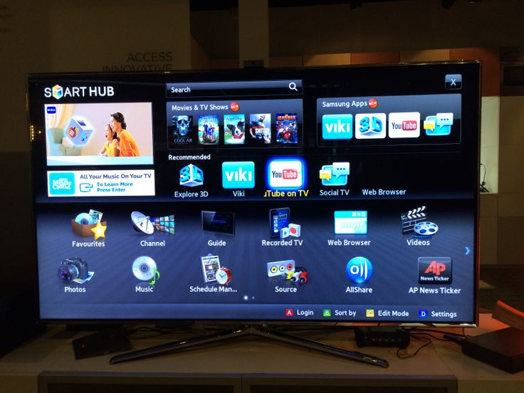 This is a photo of a television but without the 3D. The main menu which allows users to use the internet.