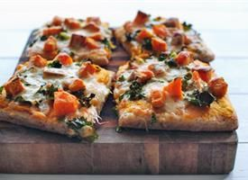 Roasted Butternut Squash Pizza Recipe ~ Tablespoon