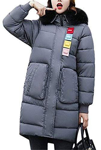 Femme Quilting Blouson Automne Hiver Oversize Doudoune Jacken Young Styles Mode  Élégant Vintage Festive Gaine A 45e0dc1533d