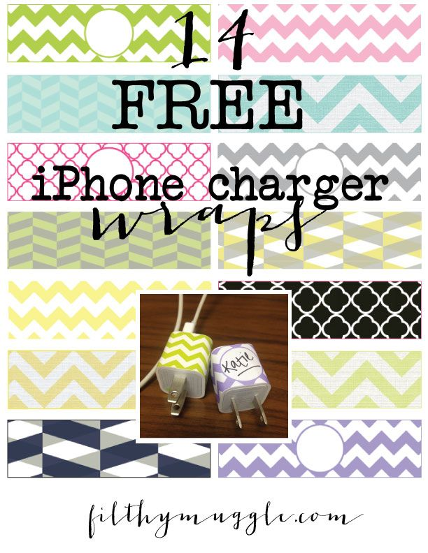 Iphone Charger Decal Template
