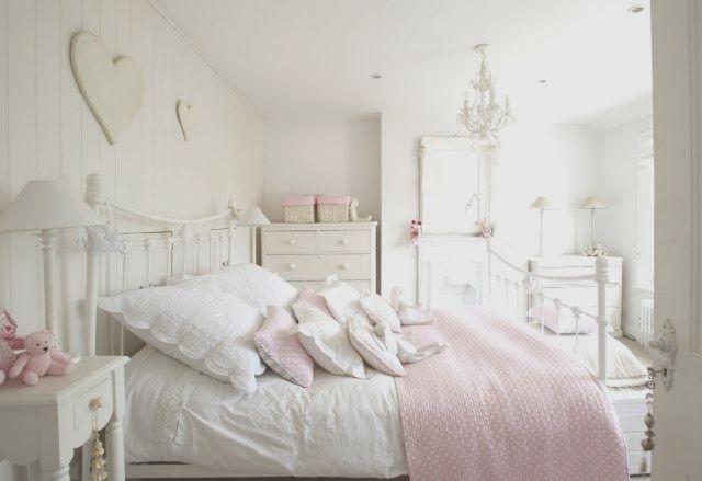 Schlafzimmer Ideen Gestaltung Shabby Chic Weiss Rosa Kinderzimmer
