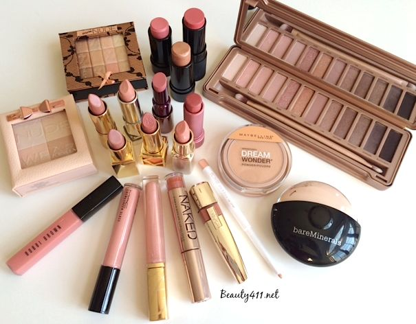 Perfectly on trend with pink-nude shades of makeup! Pin & save!