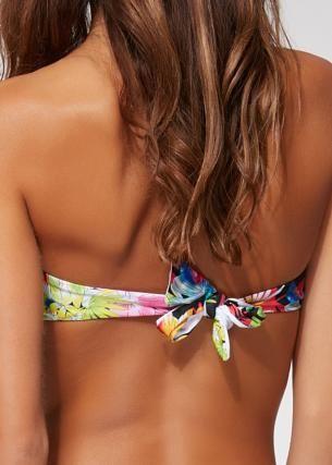 Bandeau Bikini Volant Lara Tropical