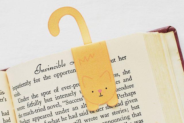 Magnetic Printable Cat Bookmark
