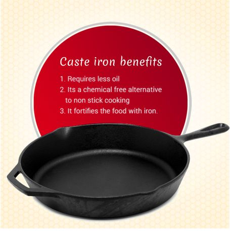 Did you know that cooking in cast iron utensils can help you keep anemia at bay?  The tradition of cooking in cast iron has returned, backed by scientific findings.   Get the best of traditional cooking combined with the latest scientific knowledge of healthy cooking at http://simplyhealthydiets.com/