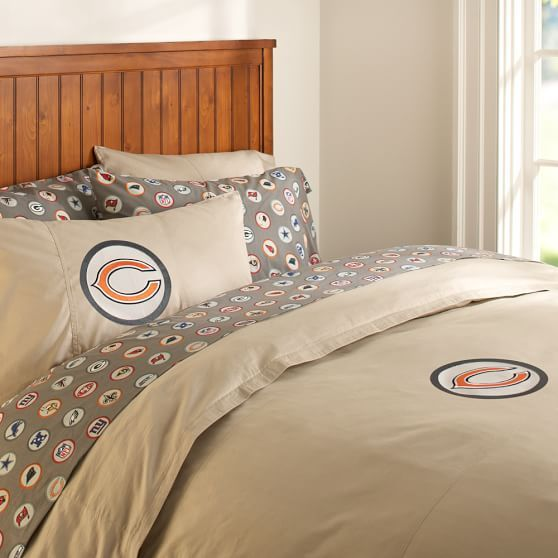Chicago Bears Duvet Cover + Pillowcase | PBteen