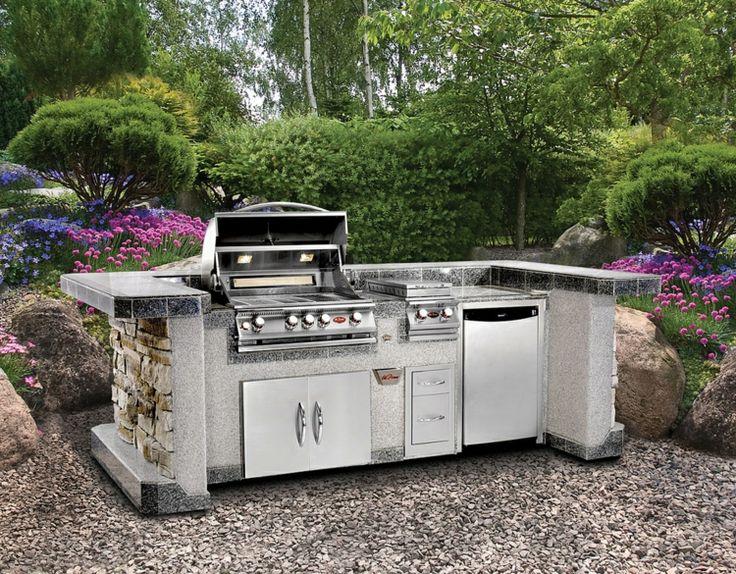 Outdoor Küche Im Garten Modern Stil Klein Kompakt