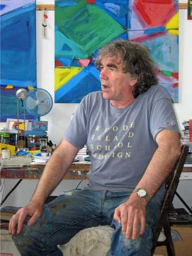 Artist Anthony Frost in his Penzance studio