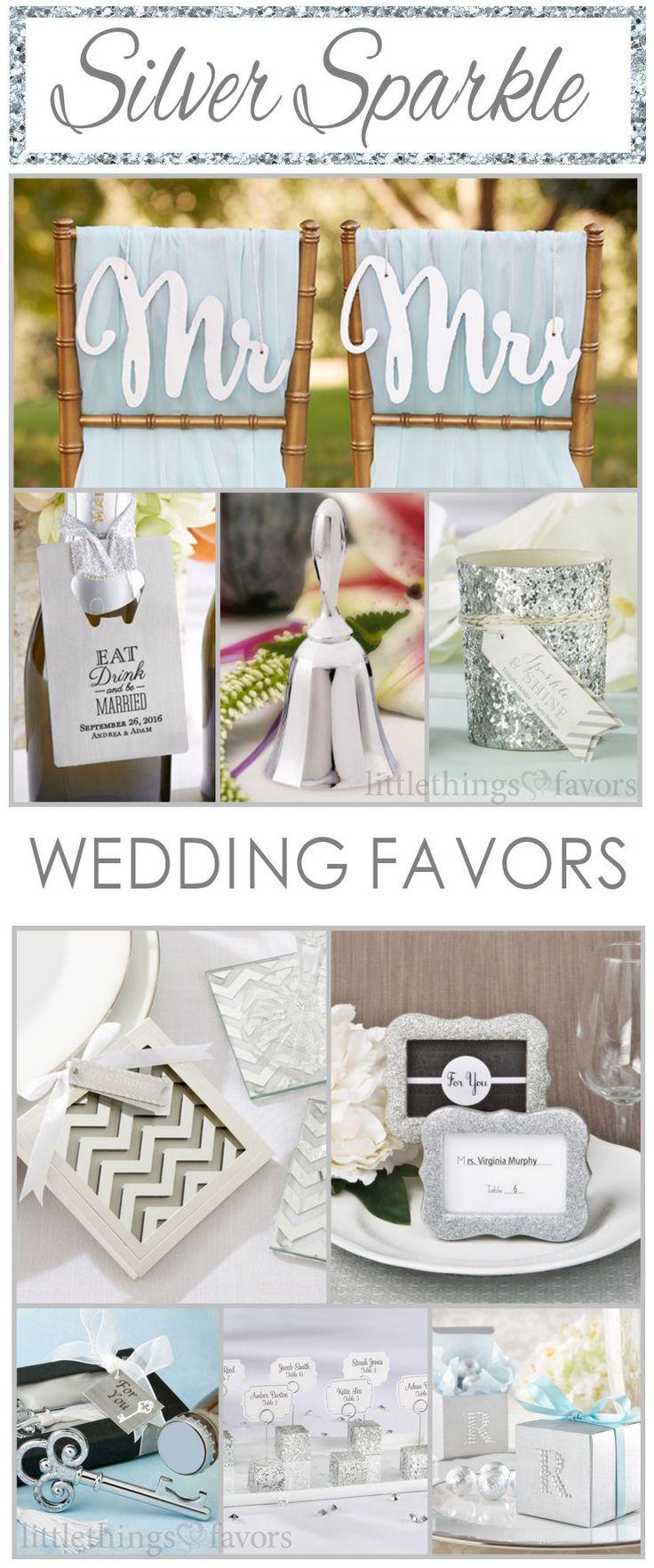 Over 100 Silver Wedding Theme Ideas + Wedding Favors! #WeddingIdeas #SilverWeddingIdeas #SilverWeddingFavors