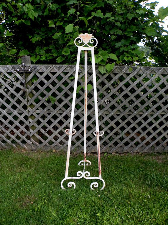 Wrought IRON Easel Over 5 ft DYI Wedding by UncommonRecycables