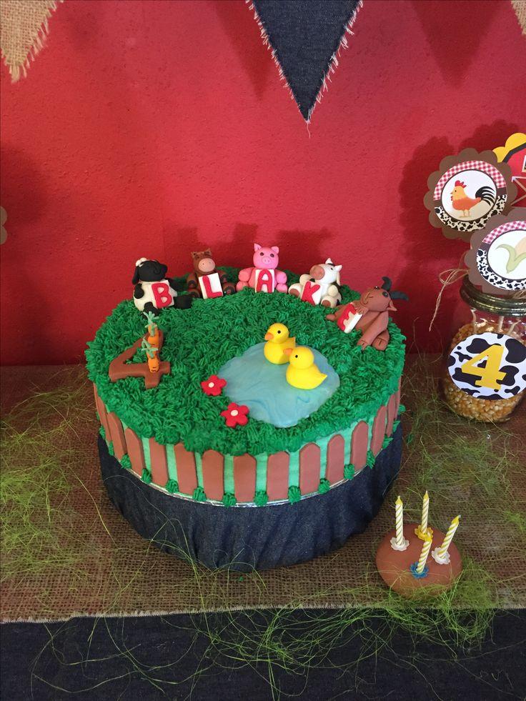 Farm theme cake - done by Stikki Toffi Parti
