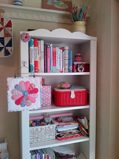 My craft shelves/ bookcase   Flickr - Photo Sharing!